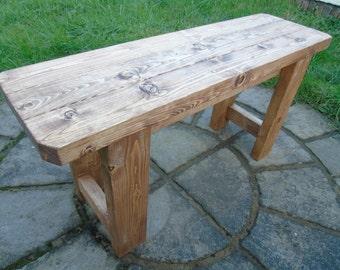 Retro Handmade Wooden Bench- Many Colours. Unique Design