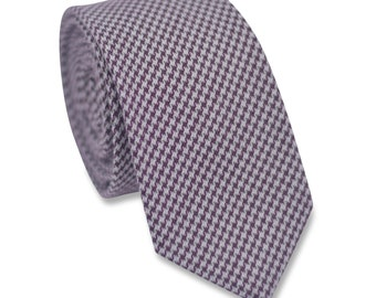 Brown Houndstooth Necktie,