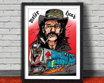 Lemmy (Motor Head) Pop print