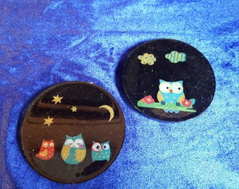 Love owls? Cute owl coasters. Make a lovely gift for someone special.