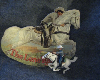 Lone Ranger and Silver Illustrated Book with Ornament