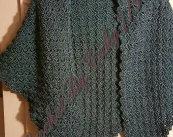 Crochet Corner to Corner Triangular Shawl
