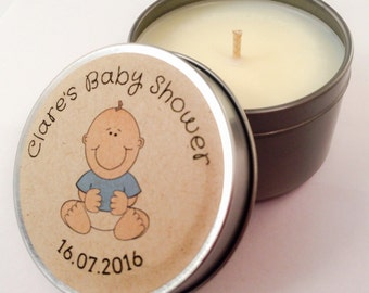 Soy Candle 4oz / Baby Shower Gift / Favors
