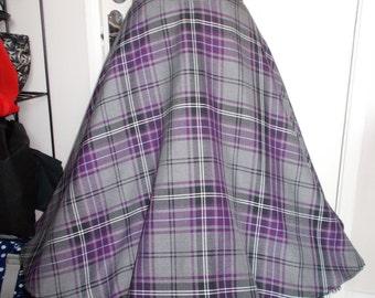 Rockabilly/vintage/retro/pinup BNWOT tartan check plaid full circle swing skirt