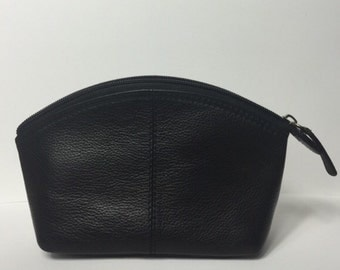 Small Black Make up Pouch, Black Pouch, Makeup bag