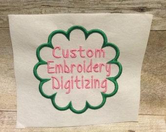 Custom Embroidery Digitizing, Embroidery designs, Personal Embroidery Designs Digitizing