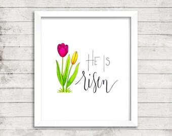 He Is The Reason, Easter Print, Printable Wall Art, Floral Print, Inspirational Art, Modern Wall Art, Instant download, Home Decor, Seasonal