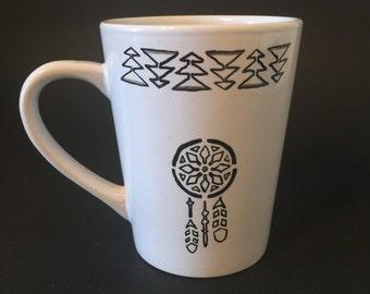 Dream catcher custom coffee mug