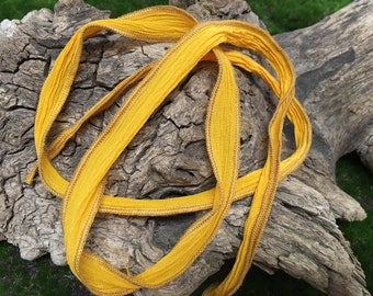 Hand Dyed Silk Ribbon 11