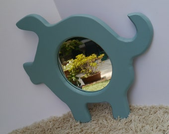 Vintage upcycled 'piggy' mirror