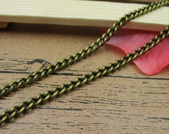 8Ft Length Dense Chains-5x4mm,Necklace Chain,Bracelet Chain, Antique Bronze Tone-CS030
