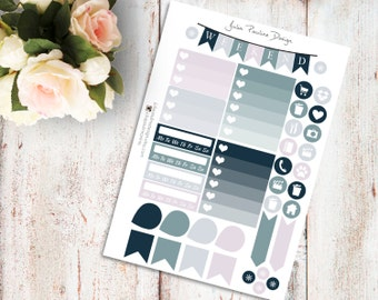Planner Stickers for the vertical Erin Condren Life Planner - Into The Woods Kit Functional Icons Sheet