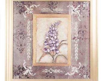 Framed Lavender Flower Giclee Print