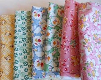 1930's Fabric Bundle Fat Quarters and Half Yards