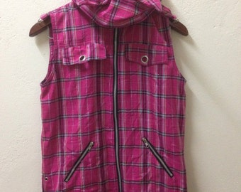 The Casualties Hardcore Punk Vest Jacket Pink
