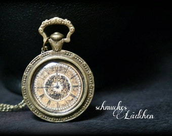 "Antique bronze vintage chain ""Spell Time"""