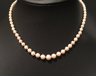 "14"" Graduated Pearl Necklace with 14K Gold Clasp"