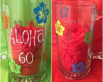 Hawaiian Luau Themed Mug