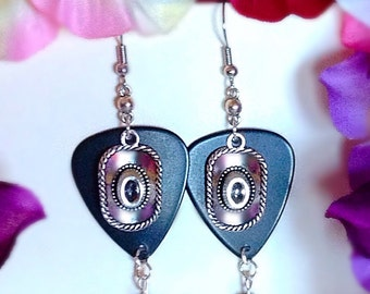 Western Guitar Pick Earrings