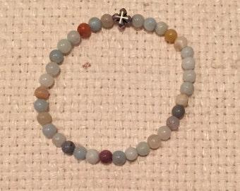 Stretch Bracelet - Multi Colored Amazonite (Thin)