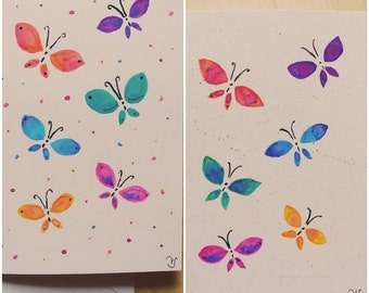 Gift cards-set butterflies, hand made
