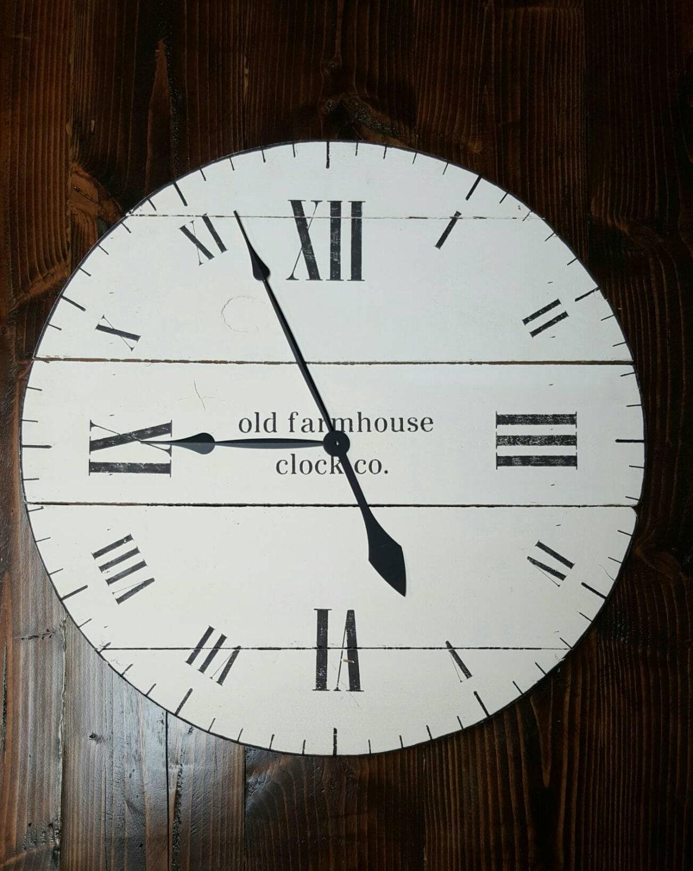 36 farmhouse clock fixer upper clock shabby chic