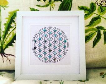 Turquoise Crystal Grid