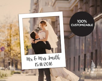 New Wedding Frame Custom Design, wedding Photo Booth Prop, Personalized Frames, party Props, Digital File, Instagram, Friends