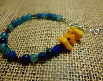 Agate and Carnelian Bracelet