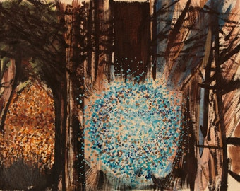 Spirit Lights in the Trees  abstract original painting