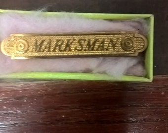1916 Marksman Pin in Original Box