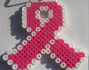 Breast Cancer Awareness Ribbon (Perler)