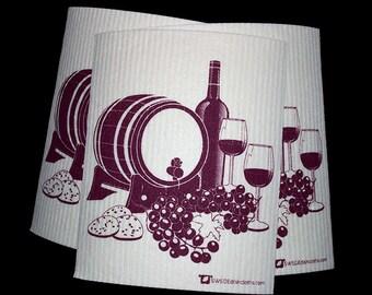 "Swedish Dishcloth ""Wine Cask"" 3 pack"