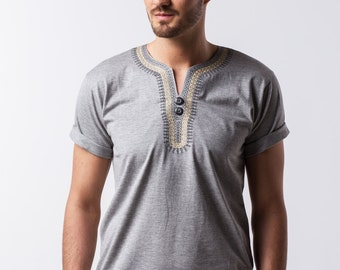 BINOAR-gold shirt grey