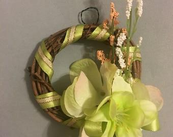 """Mini Wreath - 4"""" - green"""