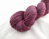 Sock Yarn - Wine Colorway - Merino Wool, Nylon Blend - Hand Dyed - Knit - Crochet - Fingering Weight