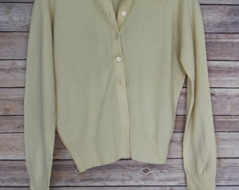 Vintage Pale Yellow Sweater