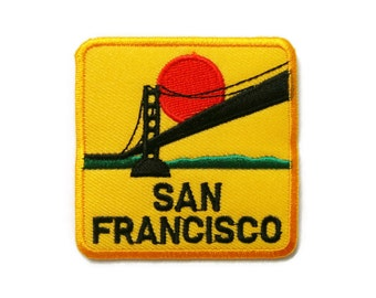 San Francisco Embroidered Applique Iron on Patch 6.5 cm. x 6.5 cm.