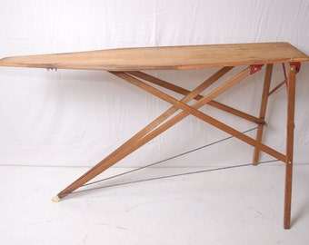 Reserved for Sarah - Vintage wood ironing board, farmhouse ironing board