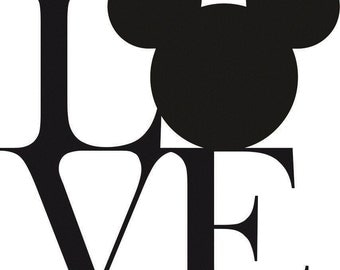 Love Disney Vinyl Decal/ Mickey Mouse Decal