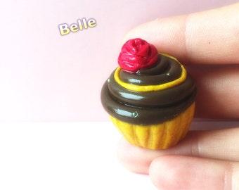 Disney inspired Princess Belle cupcake