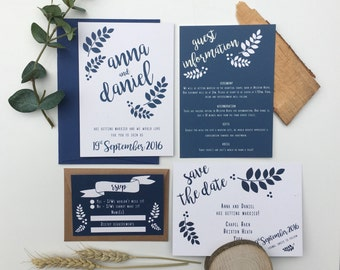 Secret Woodland Wedding Invitation Set - Sample Only