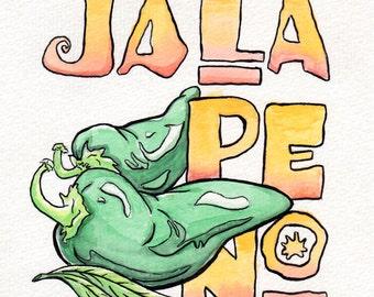 Watercolor - Jalapeño (Original)