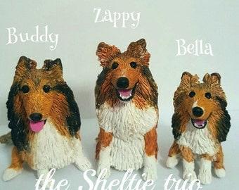 Shetland Sheepdog Custom Dog Figurine Cake Topper