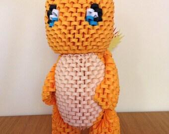 3D Origami Charmander