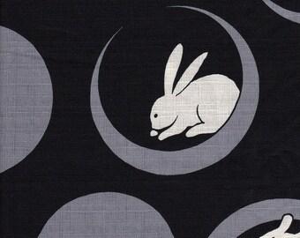 fabric 50cm Rabbit on the moon fabric
