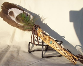 Hand-crafted Ceremonial/Smudge Feather Fan #12