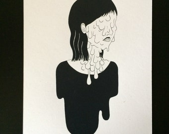 Melted : Hand pulled screenprint of psycho-somatic melt
