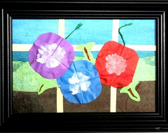 """Origami Flower Collage """"Morning Glory"""""""