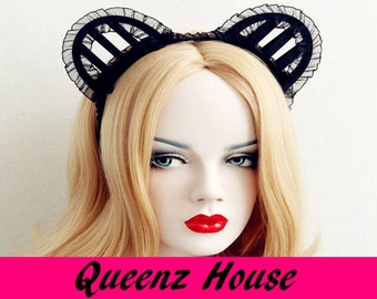 Queenzhouse costume maid hairband  headband gothic hair accessories